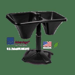 Black military grade ExpressBagger sandbag filling tool, assembled